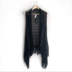 NWT Dynamite Crochet Sleeveless Cardigan, XS/S